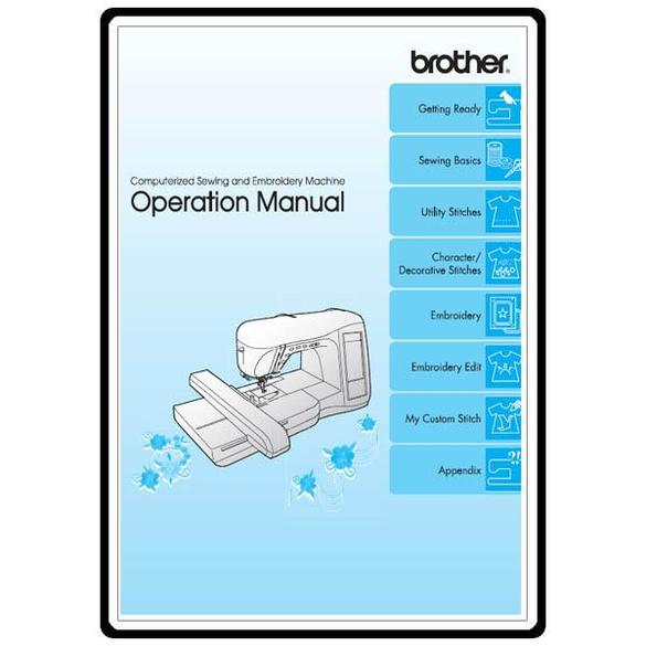 Instruction Manual, Brother Innovis 1500D
