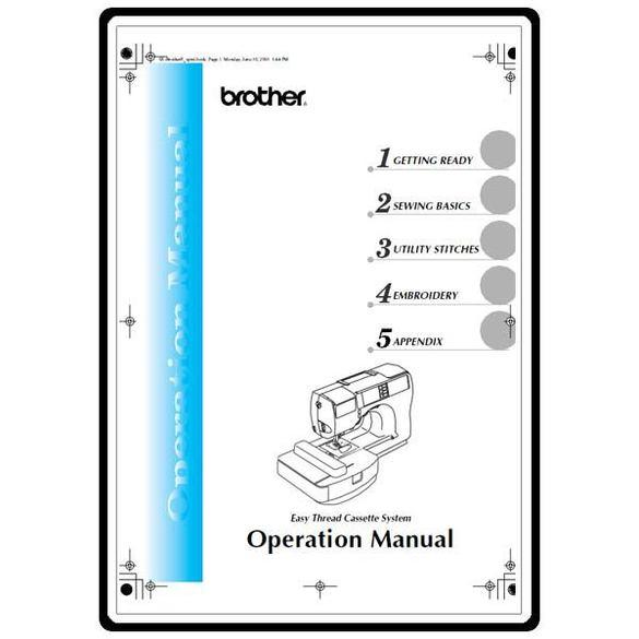 Instruction Manual, Brother Innovis 500D