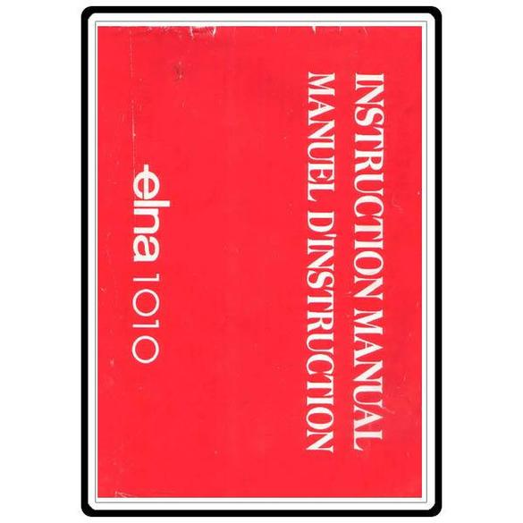 Instruction Manual, Elna 1010