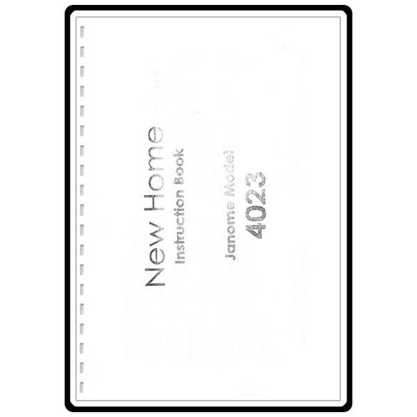 Instruction Manual, Janome My Excel 4023