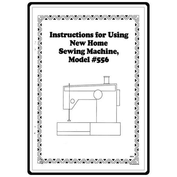 Instruction Manual, Janome (Newhome) 556