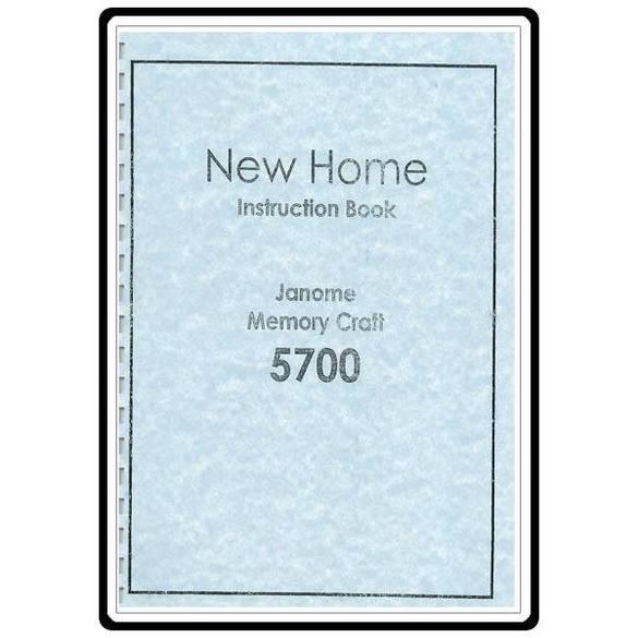 Instruction Manual, Janome MC5700