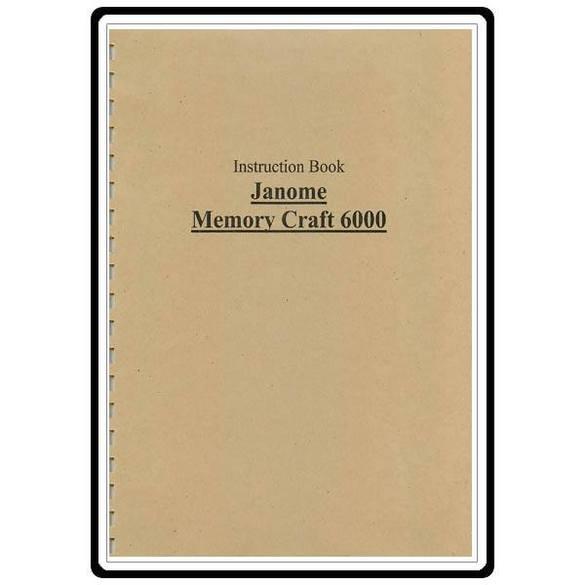 Instruction Manual, Janome 6000