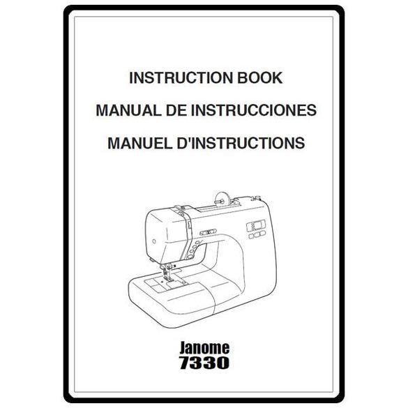 Instruction Manual, Janome 7330