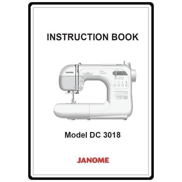 Instruction Manual, Janome DC3018