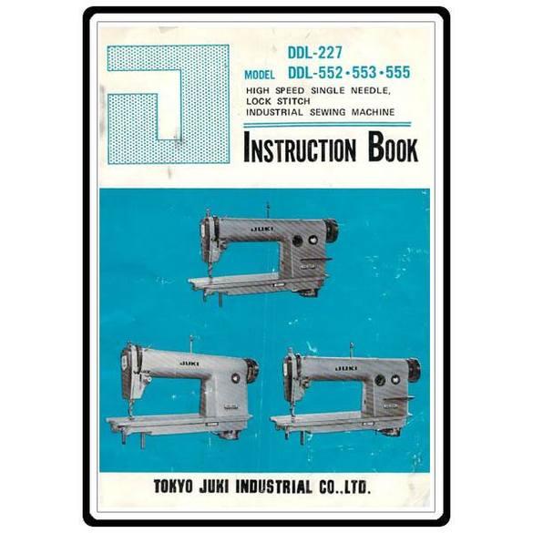 Instruction Manual, Juki DDL-227