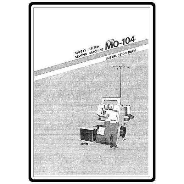 Instruction Manual, Juki MO-104