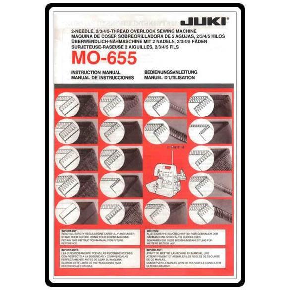 Instruction Manual, Juki MO-655