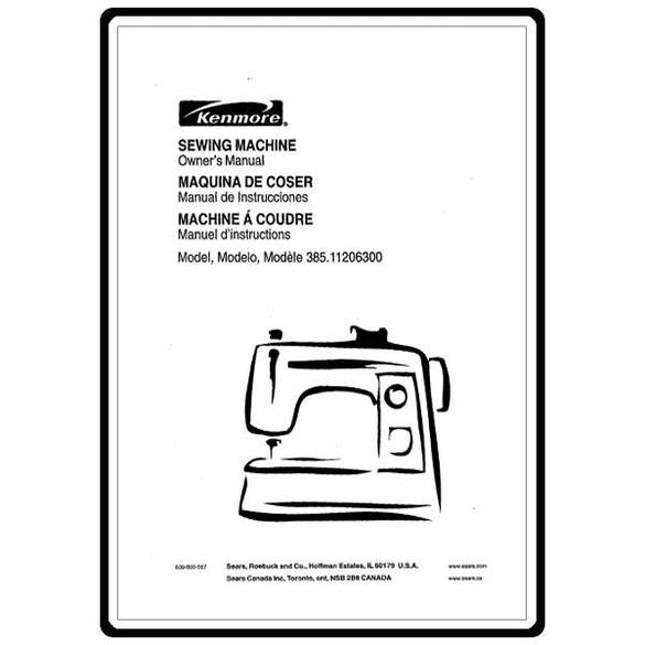 Instruction Manual, Kenmore 385.11206300