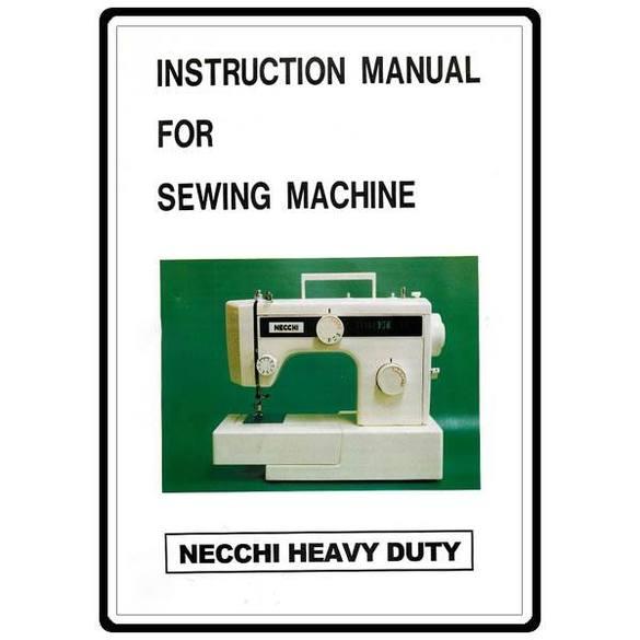 Instruction Manual, Necchi 3101FA