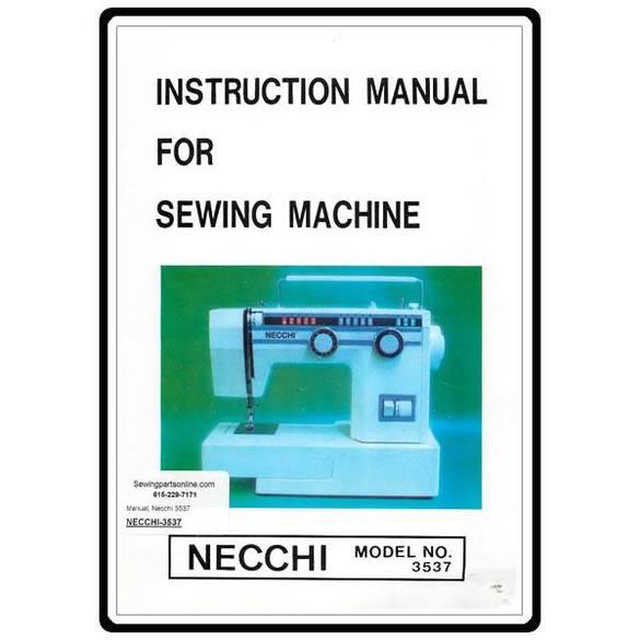 Instruction Manual, Necchi 3537