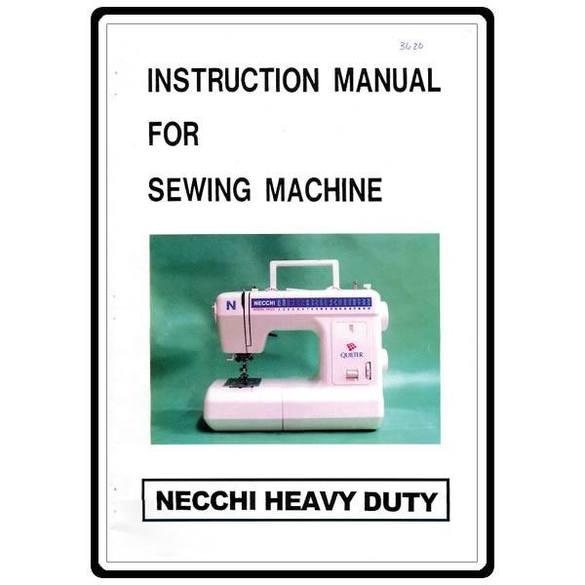 Instruction Manual, Necchi 3620