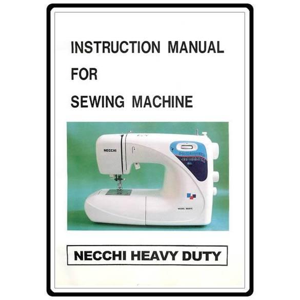 Instruction Manual, Necchi 3832