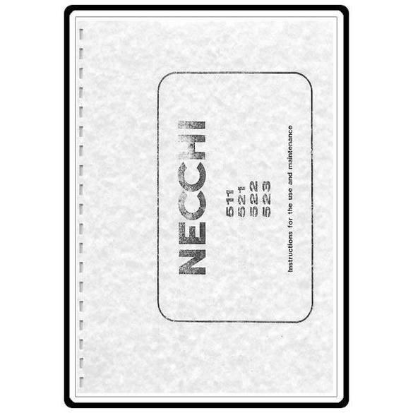 Instruction Manual, Necchi 521