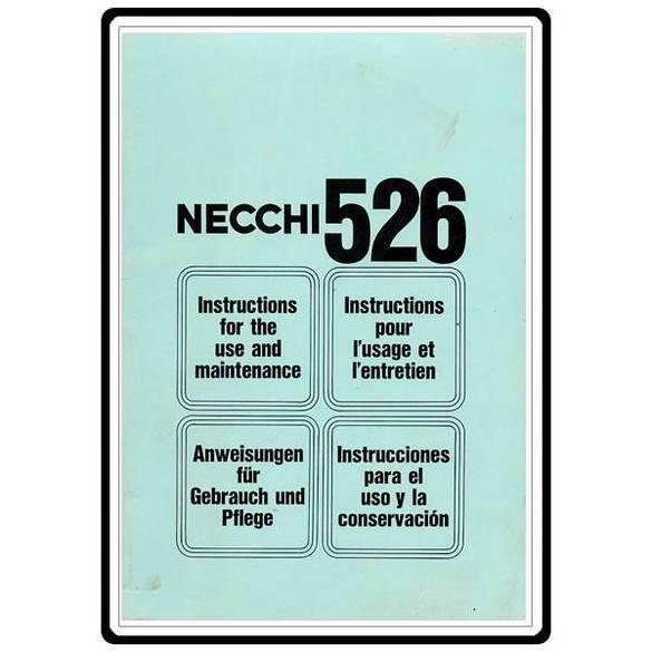 Instruction Manual, Necchi 526