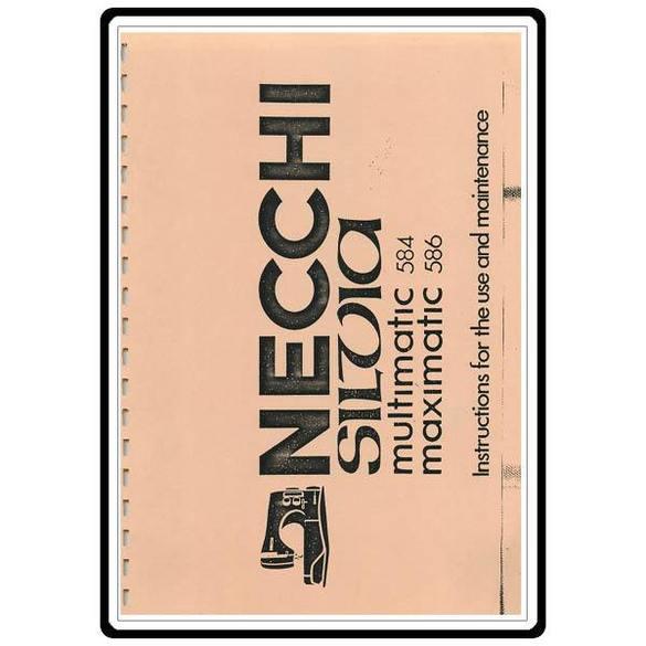 Instruction Manual, Necchi 584