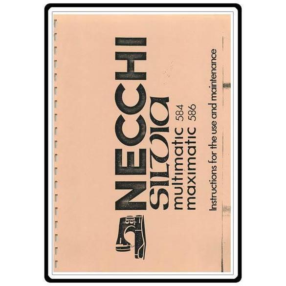 Instruction Manual, Necchi 586