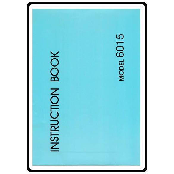 Instruction Manual, Necchi 6015