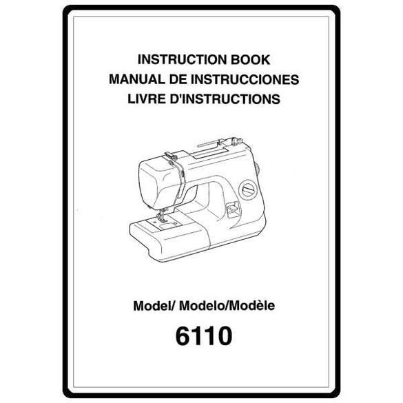 Instruction Manual, Necchi 6110