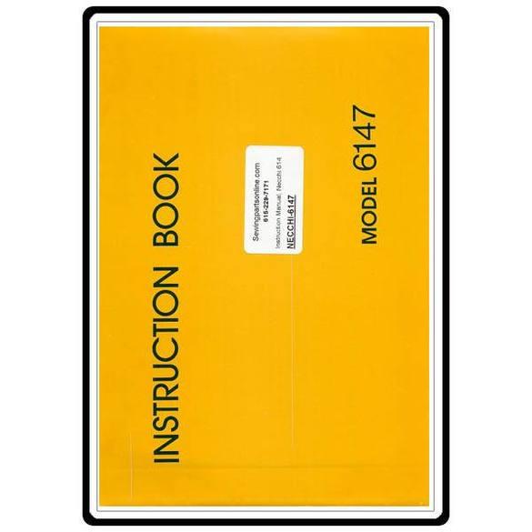 Instruction Manual, Necchi 6147