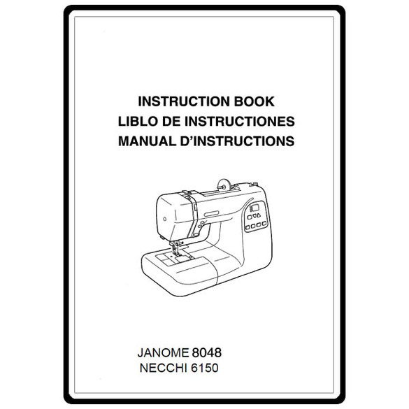 Instruction Manual, Necchi 6150