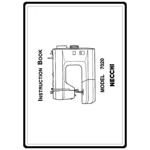 Instruction Manual, Necchi 7020