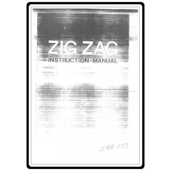 Instruction Manual, Riccar 333