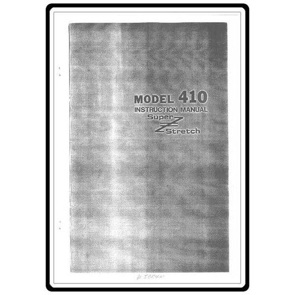 Instruction Manual, Riccar 410