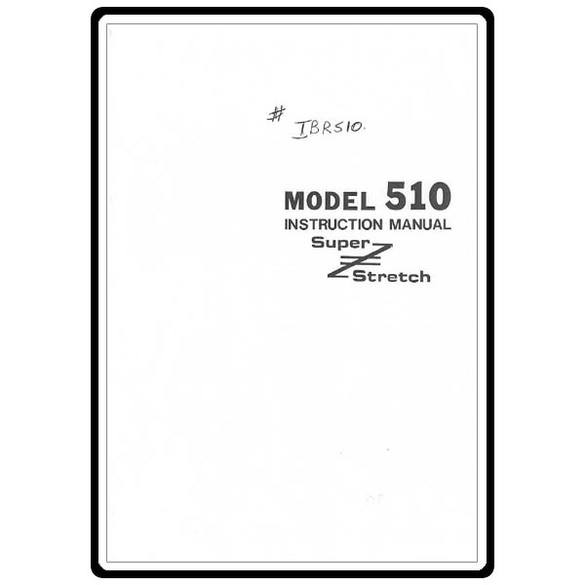 Instruction Manual, Riccar 510