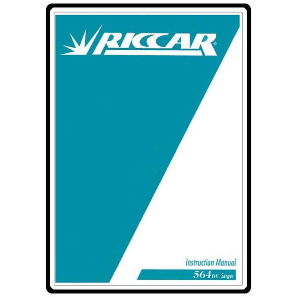 Instruction Manual, Riccar 564DE