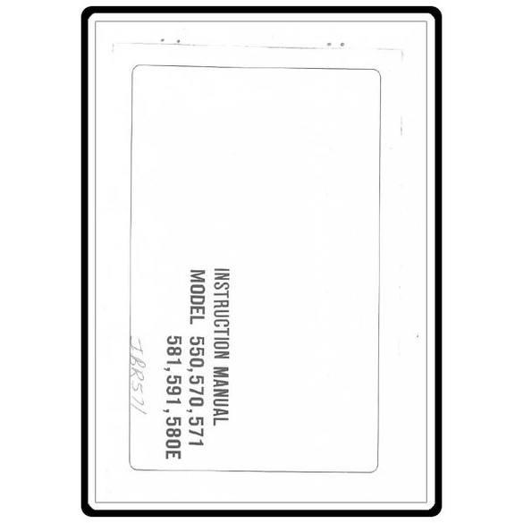 Instruction Manual, Riccar 570