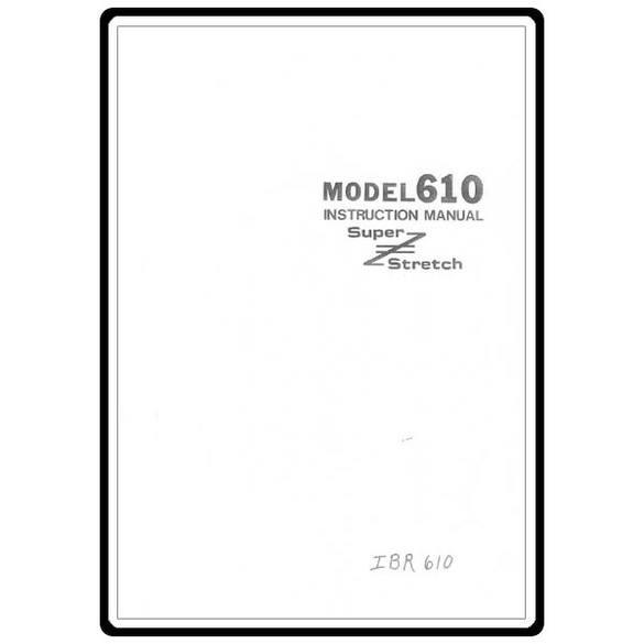 Instruction Manual, Riccar 610
