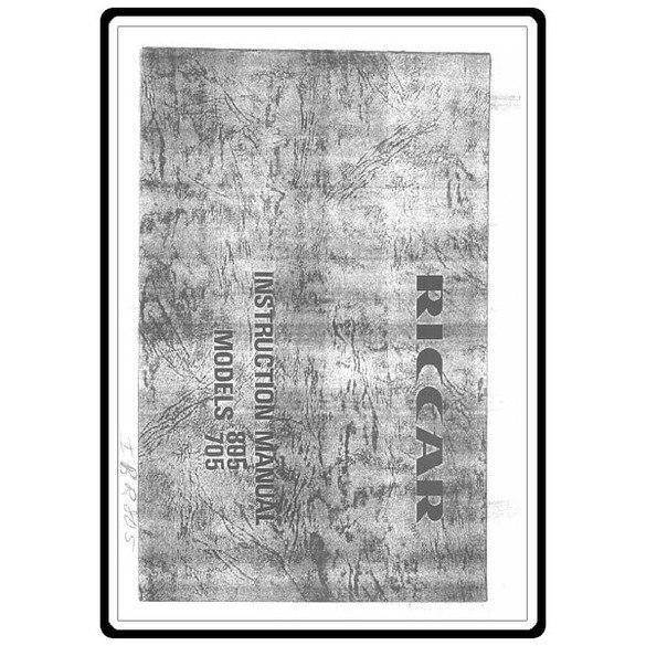 Instruction Manual, Riccar 705