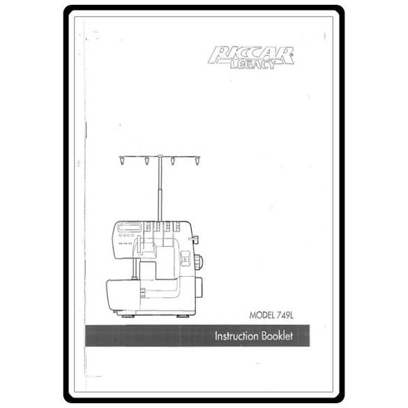 Instruction Manual, Riccar 749L