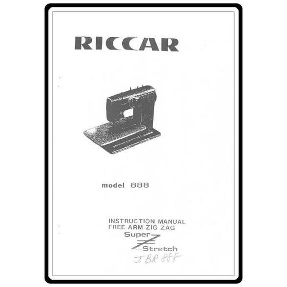 Instruction Manual, Riccar 888