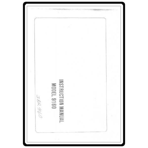 Instruction Manual, Riccar 9160