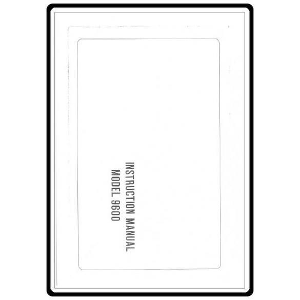 Instruction Manual, Riccar 9600