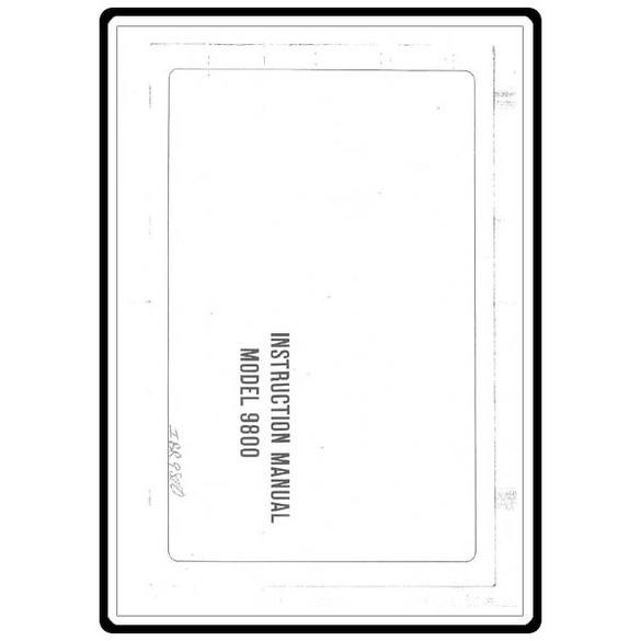 Instruction Manual, Riccar 9800