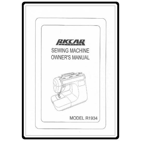 Instruction Manual, Riccar R1934