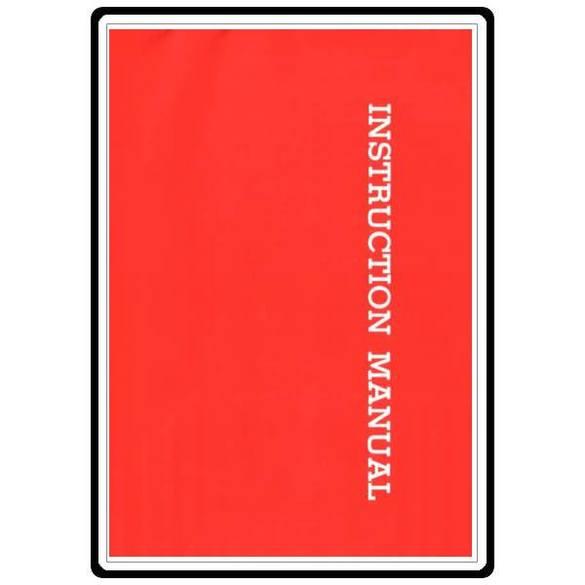 Instruction Manual, Riccar R250
