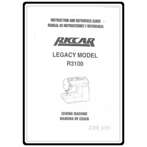 Instruction Manual, Riccar R3100