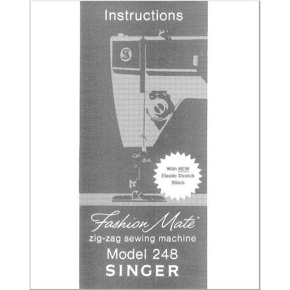 Instruction Manual, Singer 248