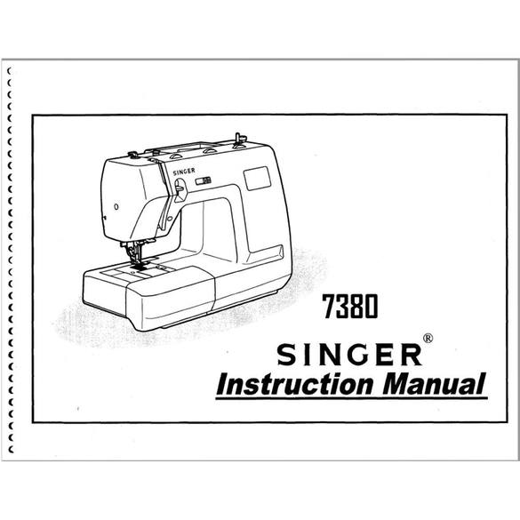 Instruction Manual, Singer 7380