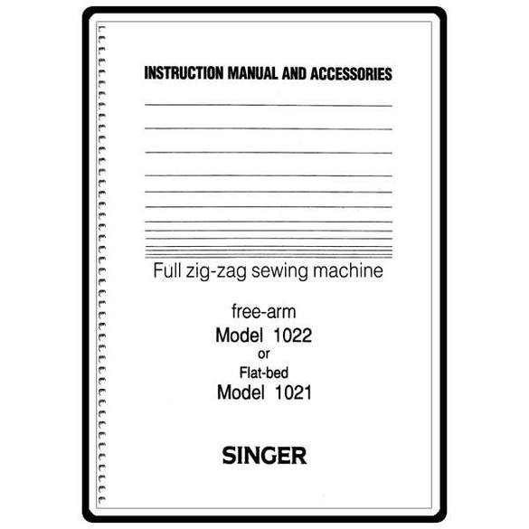 Instruction Manual, Singer 1021
