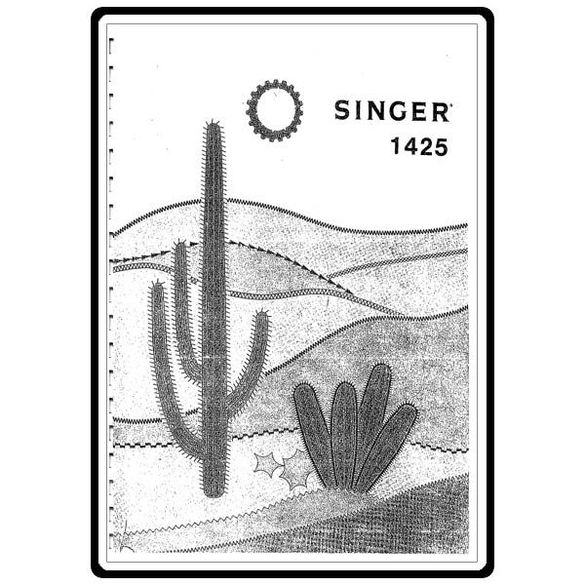Instruction Manual, Singer 1425