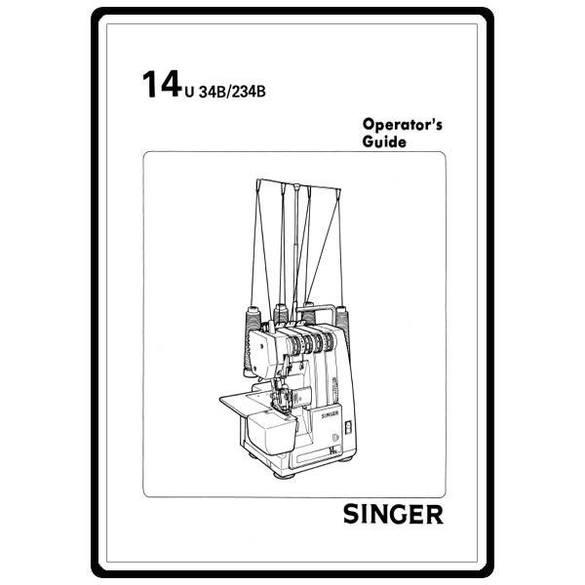 Instruction Manual, Singer 14U34B