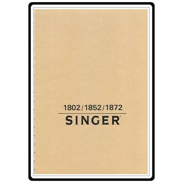 Instruction Manual, Singer 1802
