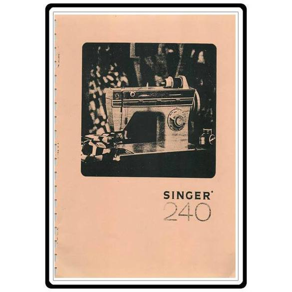 Instruction Manual, Singer 240