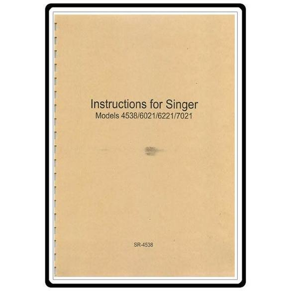 Instruction Manual, Singer 4538
