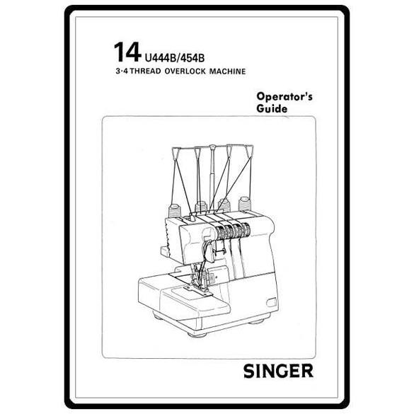 Instruction Manual, Singer PRO4D
